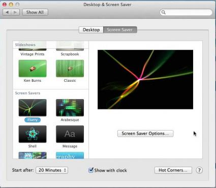 Screenshot of a Mac screen saver