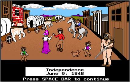 Screenshot of The Oregon Trail Game