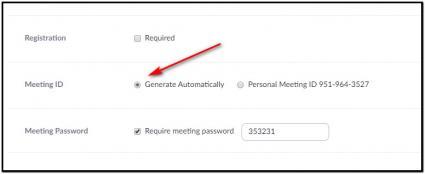 Generating a random meeting number in Zoom