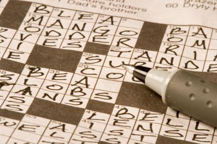 A crossword puzzle