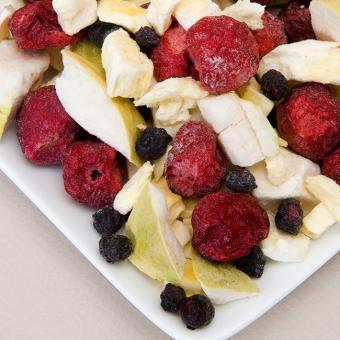 Mixed freeze dried fruits
