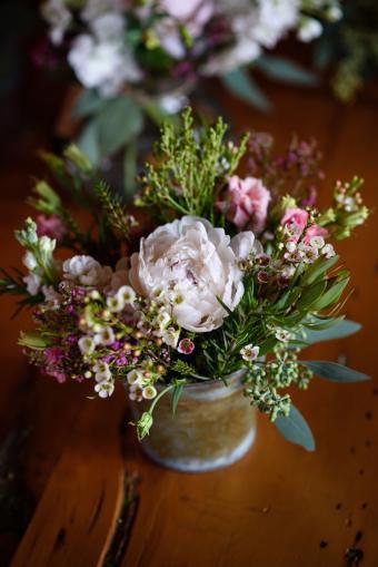 New Leaf Organics flower bouquet