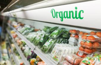 organic section in grocery store