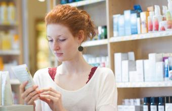 Female customer in an organic shop