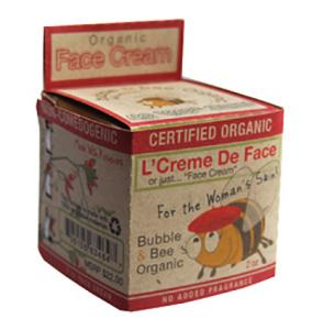 Bubble and Bee Certified Organic Face Cream