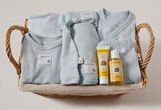 Burt's Bees Take Me Home Striped Gift Basket