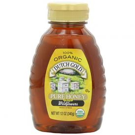 Squeeze bottle of Dutch Gold Organic Honey