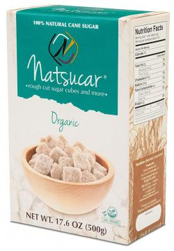 Natsucar Organic Rough Cut Sugar Cubes (Pack of 2 - 1000g) food