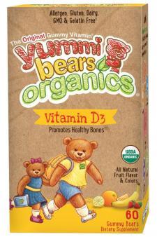 Yummi Bears Organics Vegetarian D3 Vitamin