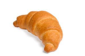 One golden-brown croissant