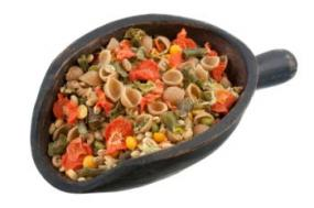 Buy mixes with dehydrated and freeze-dried vegetables for great soups.