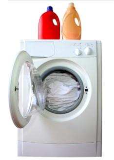 washer with detergent and softener