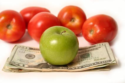 money and fruit