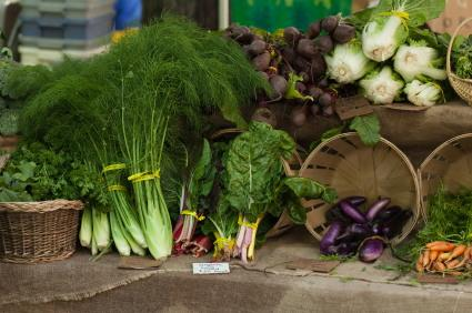organic farm produce