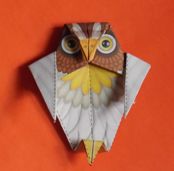 How to make 3D origami Little Owl - YouTube | 600x611