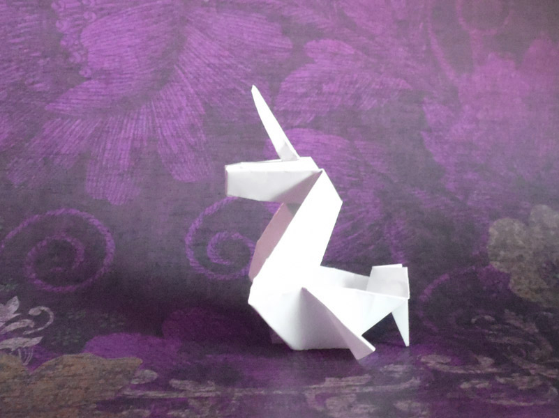 How To Make An Origami Unicorn ? | Think Unicorn | 600x801