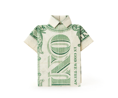 Money Origami Shirt and Tie Folding Instructions | 315x381