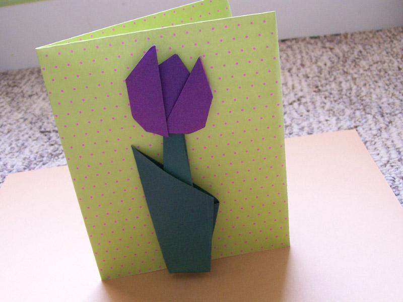 Origami flowers for cards lovetoknow origami flowers for cards mightylinksfo