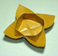 origami flower bowl