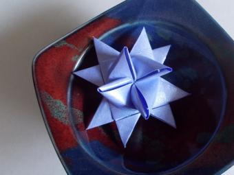 German Christmas Stars of Folded Paper