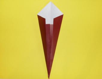 origami turkey, step 2