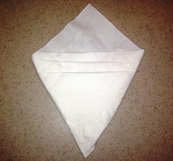 Ice cream cone napkin fold