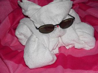 Bunny Folded Towel Instructions