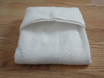 towel origami basket step 4