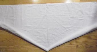 towel origami heart step 1