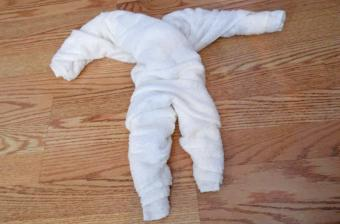 towel origami monkey step 3