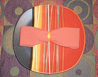 How to Fold a Napkin Into a Bow Tie Shape
