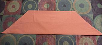 Napkin folding step 2