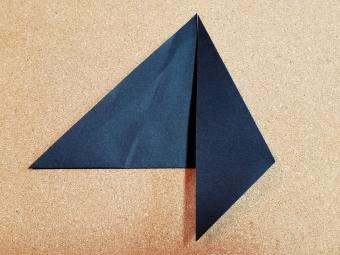 Step 3- fold down right side