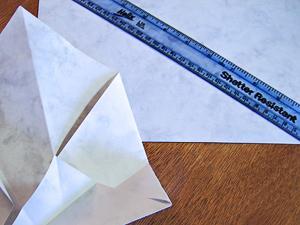 Folded Paper Triangle Box