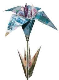 How to Make an Origami Flower from a Dollar Bill