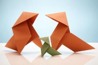 Origami hens