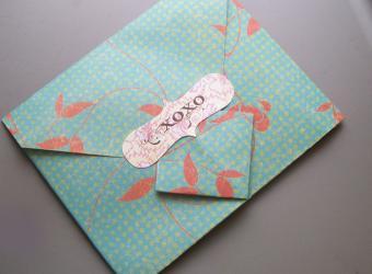 Origami Envelope Visual Instructions