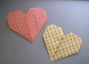 Visual Instructions for Origami Hearts