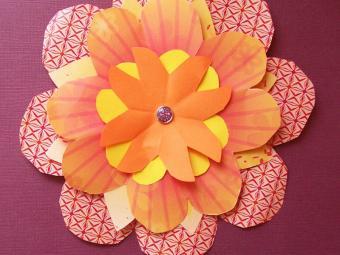 Kirigami Flower Pattern
