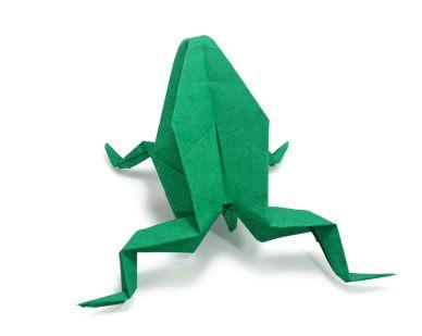 how to make an origami frog lovetoknow. Black Bedroom Furniture Sets. Home Design Ideas