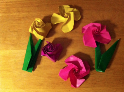 Mary Creative - Origami #17 | How to make easy ribbon flower - YouTube | 317x425