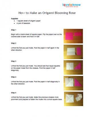origami rose pattern