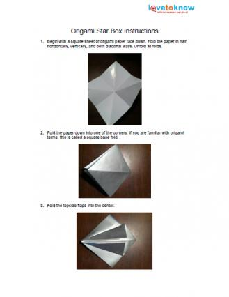Origami Box Patterns