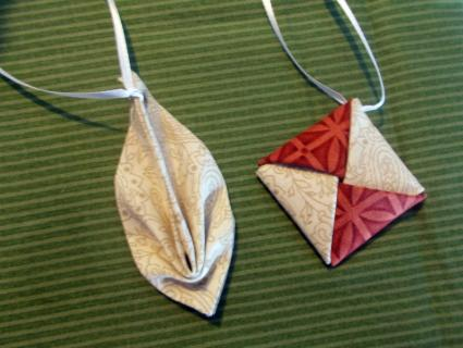 Fabric Origami Christmas Ornaments Lovetoknow