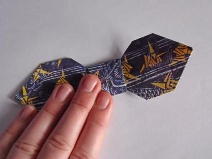 origami bow tie step 7