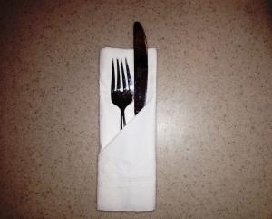 Utensil pocket napkin