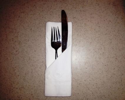 Utensil pocket napkin