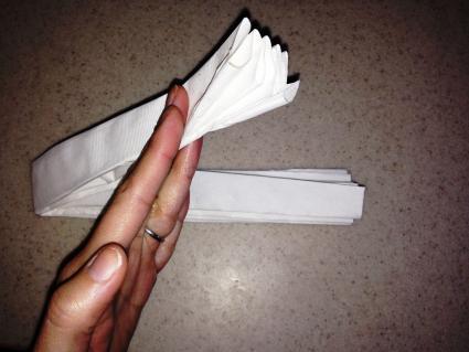 Folding pleats in half