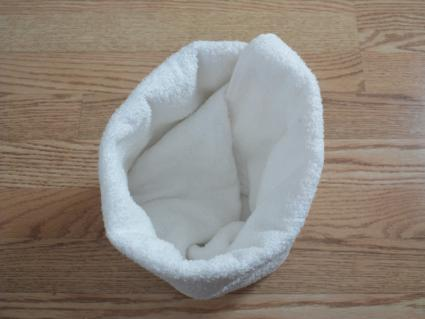 towel origami basket step 5