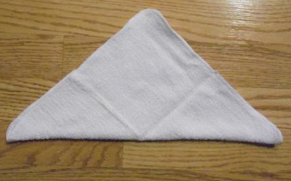 towel origami boat step 1